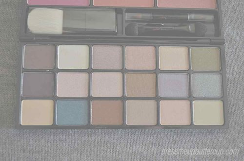 Avon Color Fold-Up Palette Swatches and FOTD