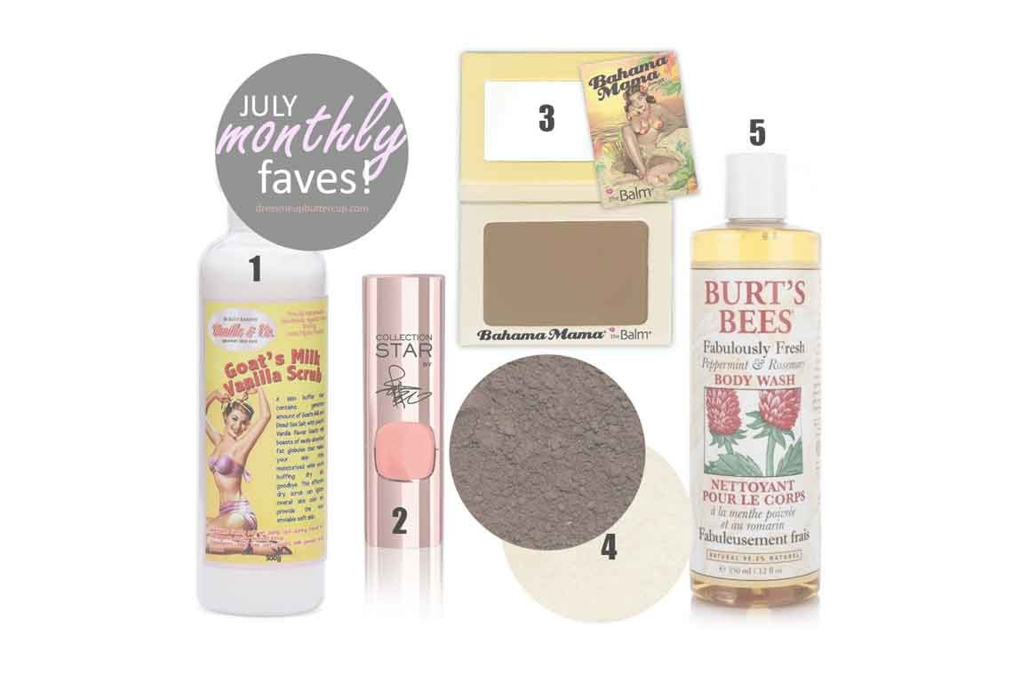 July Monthly Beauty Favorites
