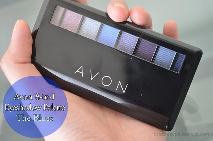 Avon 8 in 1 Eyeshadow Palette Product Review, Swatches and FOTD (The Blues)